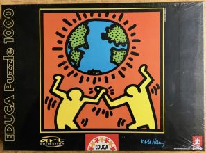 Image of the puzzle 1000, Educa, Figures with World, Keith Haring, Factory Sealed