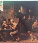 Image of the puzzle 1500, MB, The Card Players, David Teniers the Younger, Sealed Bag, Picture of the box