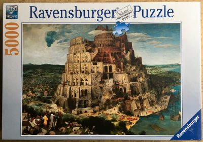 Image of the puzzle 5000, Ravensburger, The Tower of Babel, Pieter Bruegel the Elder, Factory Sealed