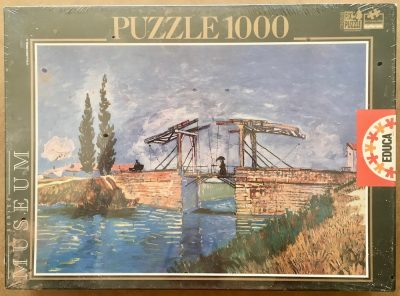 Image of the puzzle 1000, Educa, Langlois Bridge at Arles, by Vincent Van Gogh, Factory Sealed