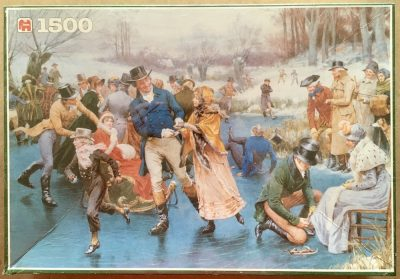 Image of the puzzle 1500, Jumbo, Winter Fun, by Frank Dadd, Factory Sealed