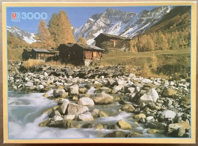 Image of the puzzle 3000, MB, Torrent, Lötschental, Wallis, Switzerland, Sealed Bag, Picture of the box