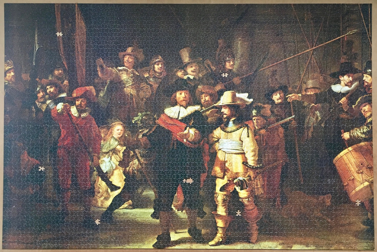 Image of the puzze 5000, Ravensburger, The Night Watch, by Rembrandt, Puzzle Assembled