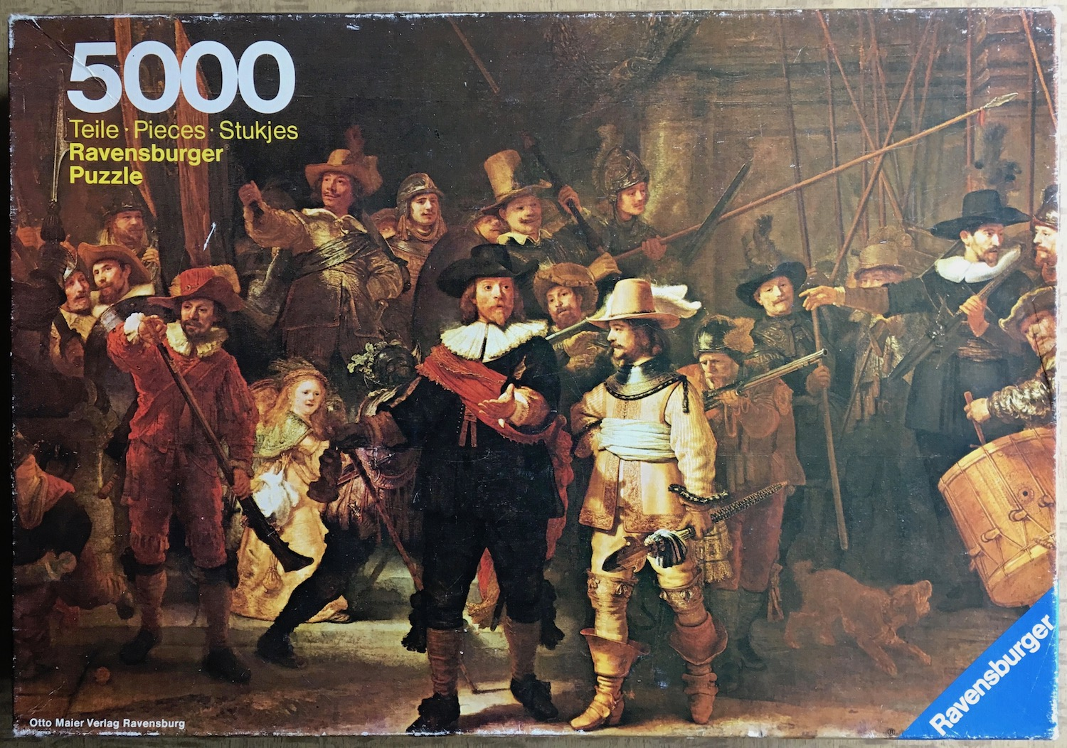 Image of the puzzel 5000, Ravensburger, The Night Watch, by Rembrandt, Picture of the box
