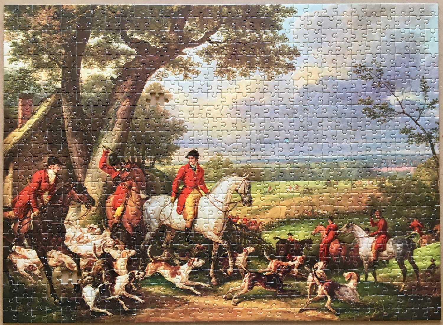 Image of the puzzle 750, Nathan, Hunting Near Fontainebleau, Carle Vernet, Assembled Puzzle, Blog Post