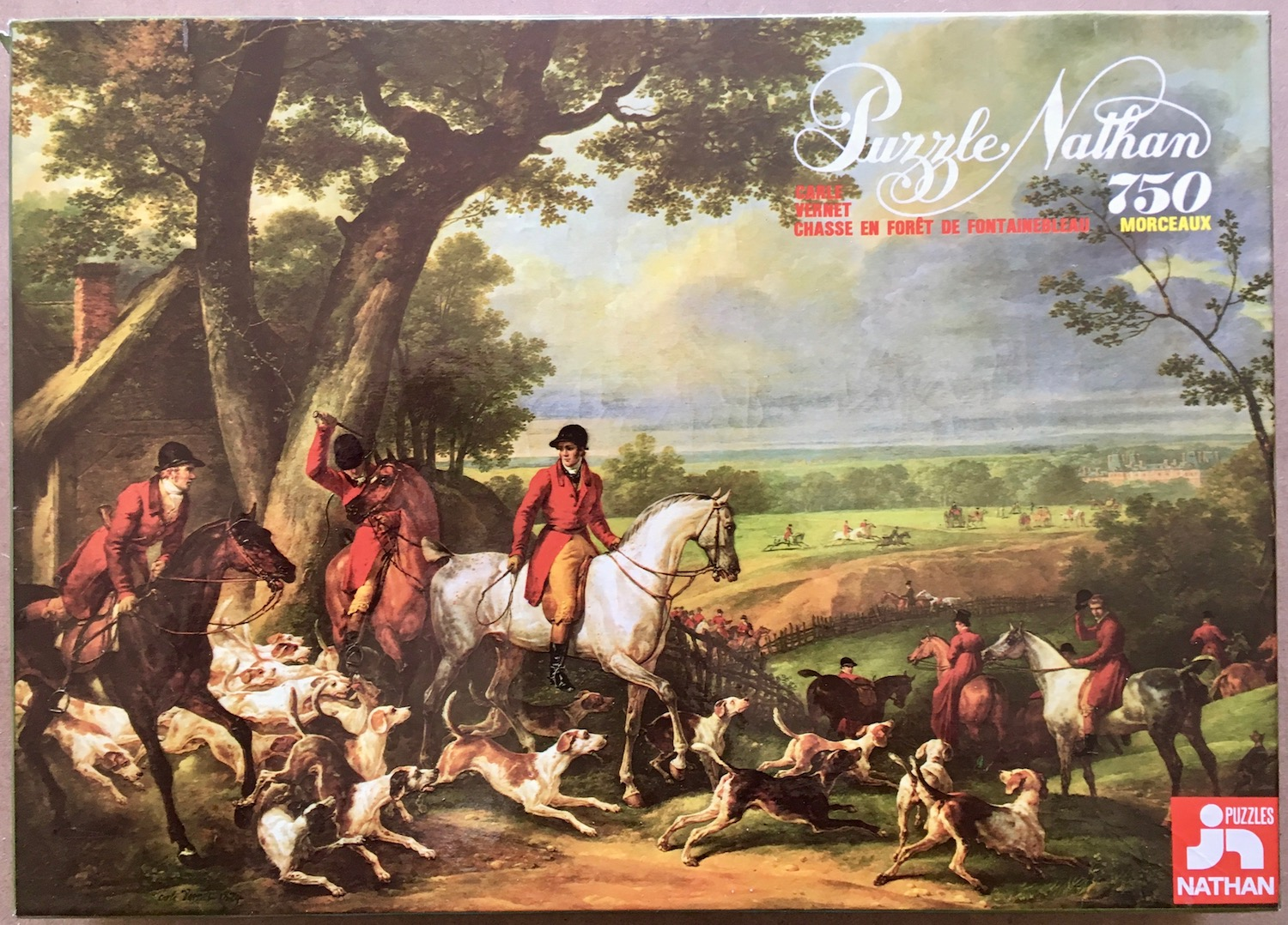 Image of the puzzle 750, Nathan, Hunting Near Fontainebleau, Carle Vernet, Box, Blog Post