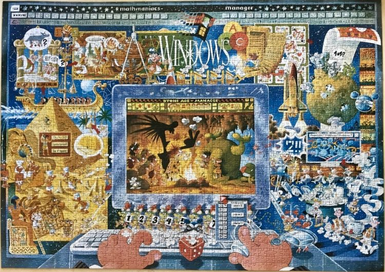 Image of the puzzle 2000, Heye, Mathmaniacs, by Michael Ryba, Complete, Picture of the puzzle assembled