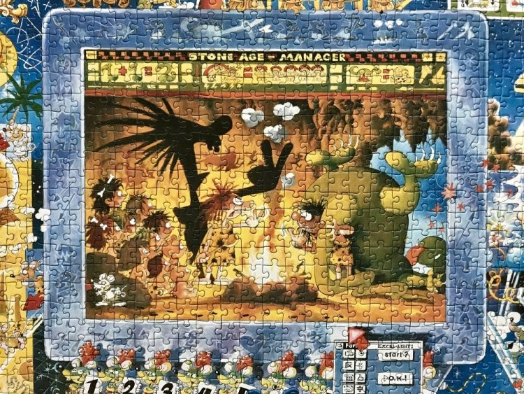 Image of the puzzle 2000, Heye, Mathmaniacs, by Michael Ryba, Complete, Detail of the puzzle