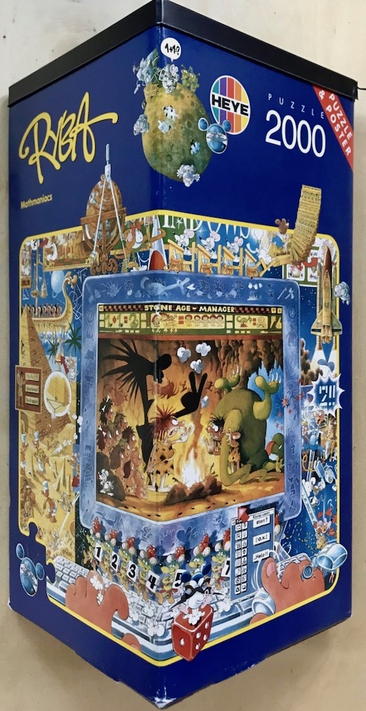 Image of the puzzle 2000, Heye, Mathmaniacs, by Michael Ryba, Complete, Picture of the box