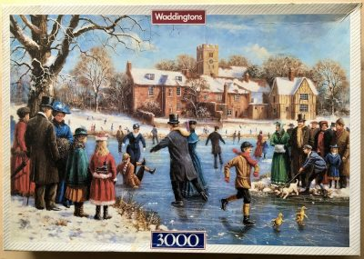 Image of the puzzle 3000, Waddingtons, Skaters, by Kevin Walsh, Sealed Bag, Picture of the box