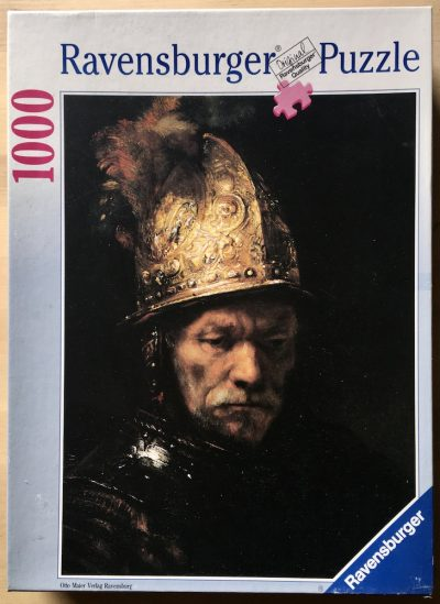 Image of the puzzle 1000, Ravensburger, The Man with the Golden Helmet, by Rembrandt, Complete, Picture of the box