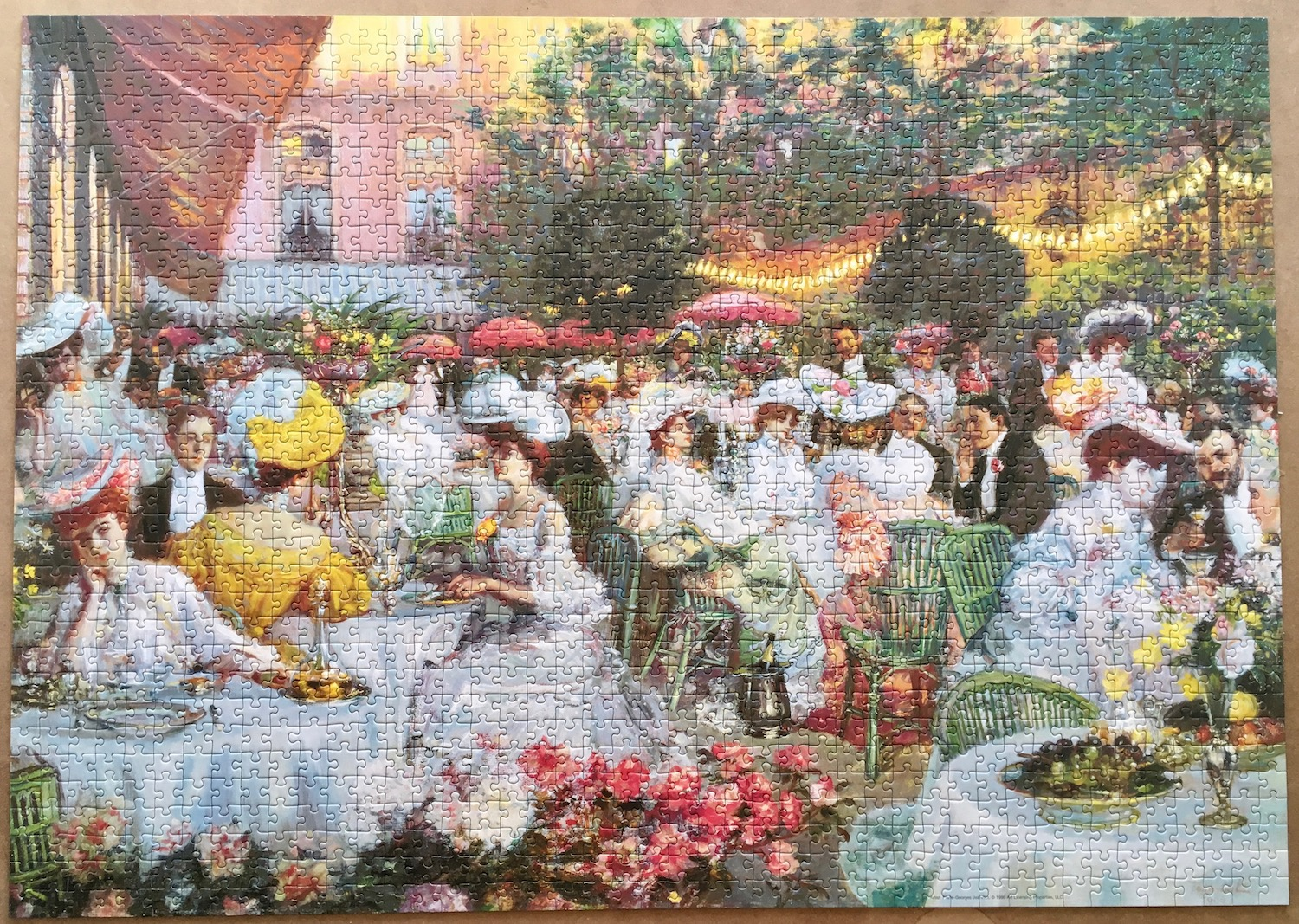 Image of the puzzle assembled 1500, Ravensburger, The Dinner at the Hotel Ritz in Paris