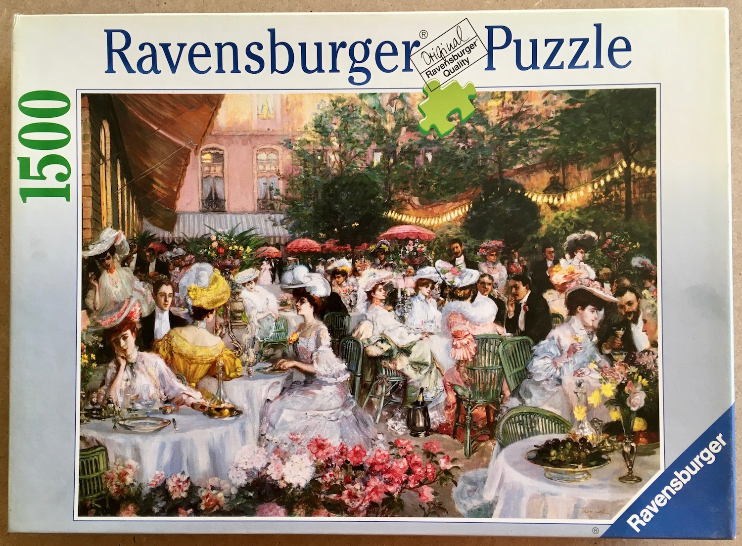 Image of the puzzle 1500, Ravensburger, The Dinner at the Hotel Ritz in Paris, Picture of the box