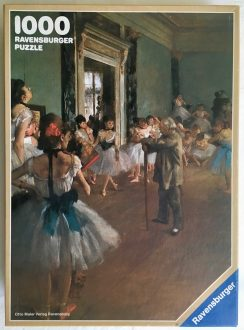 Image of the puzzle 1000, Ravensburger, The Dance Class, Edgar Degas, Complete, Picture of the box