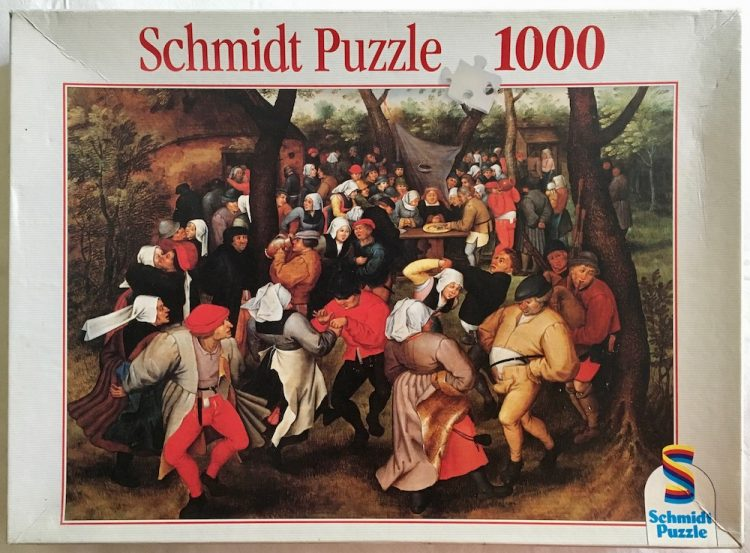 Image of the puzzle 1000, Schmidt, Peasant Wedding Dance, Pieter Brueghel the Younger, Complete, Picture of the box