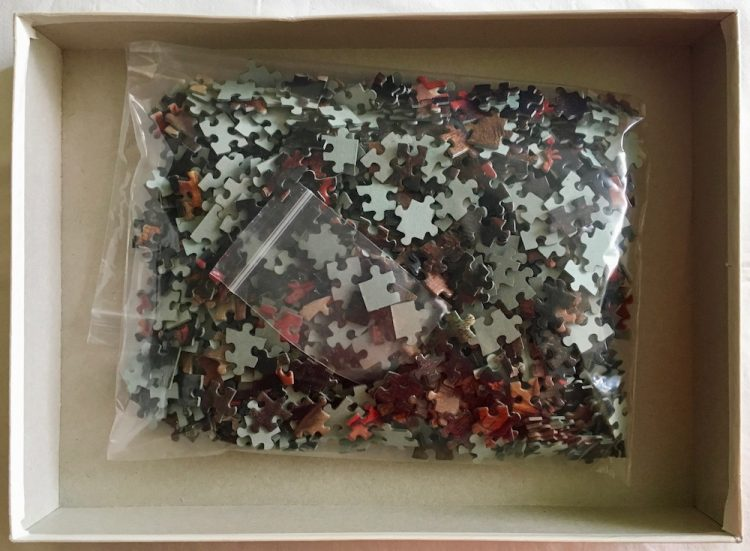 Image of the puzzle 1000, Schmidt, Peasant Wedding Dance, Pieter Brueghel the Younger, Complete, Picture of the bag