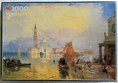 Image of the puzzle 1000, Jumbo, Venice, James Baker Pyne, Complete, Picture of the box