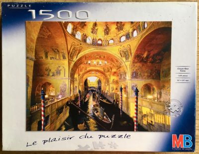 Image of the puzzle 1500, MB, Venice, Chayan Khoi, Complete, Picture of the box
