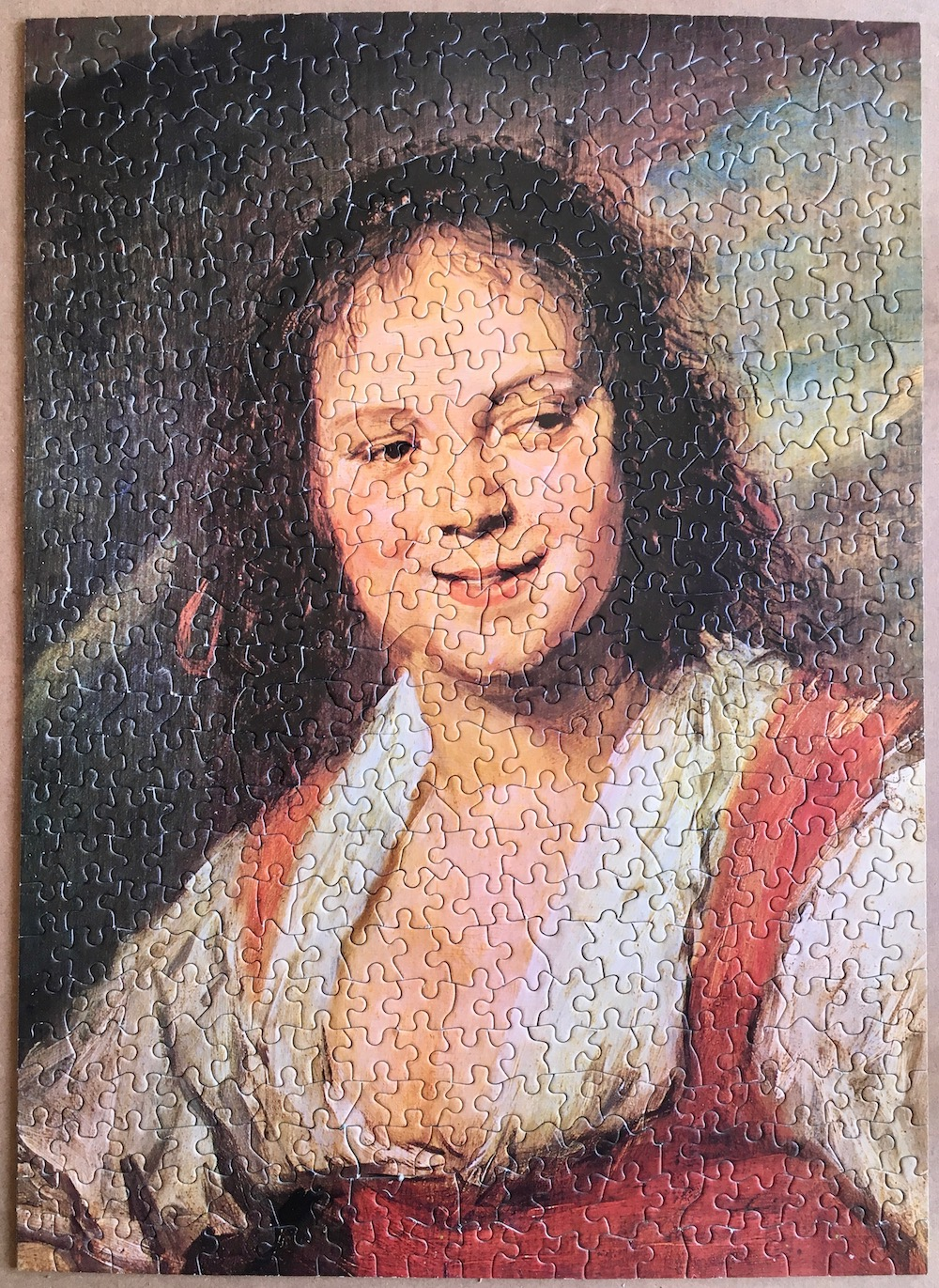 Image of the puzzle 500, Nathan, The Gipsy Girl, by Frans Hals, Puzzle Assembled