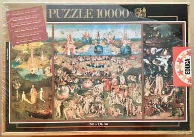Image of the puzzle 10000, Educa, The Garden of Earthly Delights, Hieronymus Bosch, Factory Sealed