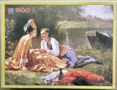 Image of the puzzle 1500, MB, The Lovers Picnic, Auguste Hadamard, Complete, Picture of the box