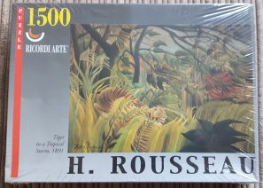 Image of the puzzle 1500, Ricordi, Tiger in a Tropical Storm, Henri Rousseau, Factory Sealed