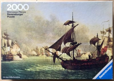Image of the puzzle 2000, Ravensburger, The Battle of Grenada, by Jean-François Hue, Complete, Picture of the box