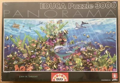 Image of the puzzle 3000, Educa, Reef, John M. Enright, Factory Sealed