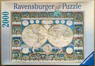 Image of the puzzle 2000, Ravensburger, Historical Map, by Abbé Clouet, Complete, Picture of the box