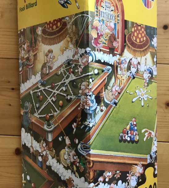 Image of the puzzle 1000, Heye, Fool Billard, Michael Ryba, Factory Sealed, Picture of the box