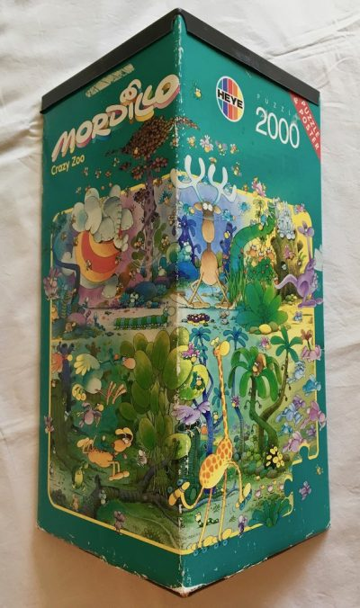Image of the puzzle 2000, Heye, Crazy Zoo, Guillermo Mordillo, Complete, Picture of the box