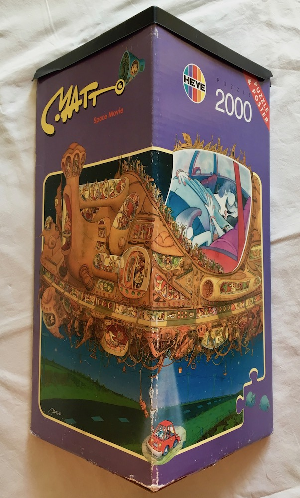 Image of the puzzle 2000, Heye, Space Movie, Matt Pritchett, Complete, Picture of the box