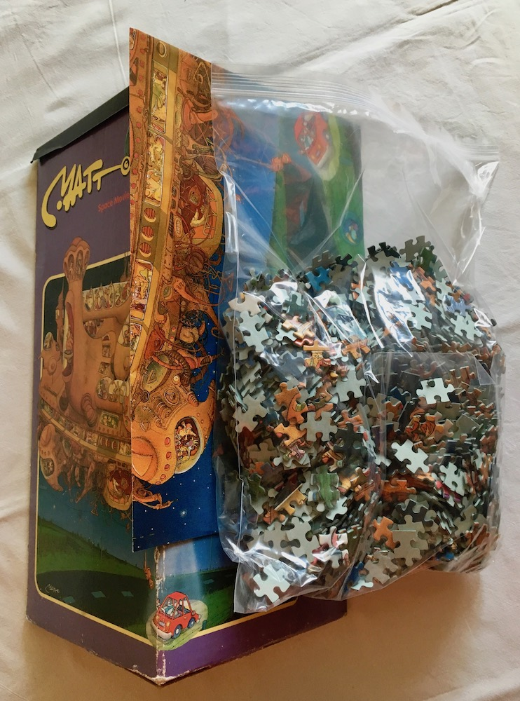 Image of the puzzle 2000, Heye, Space Movie, Matt Pritchett, Complete, Picture of the bag