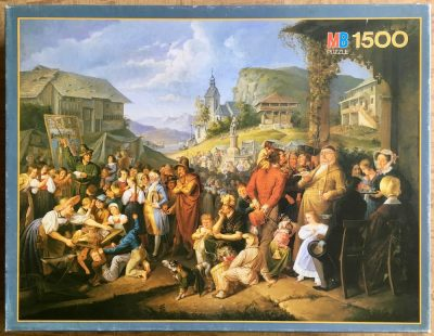 Image of the puzzle 1500, MB, A Country Fair, 19th Century, Anonymous, Complete, Picture of the box