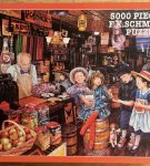 Image of the puzzle 5000, F.X. Schmid, Lucky Marbles, Susan Brabeau, Sealed Bag, Picture of the box