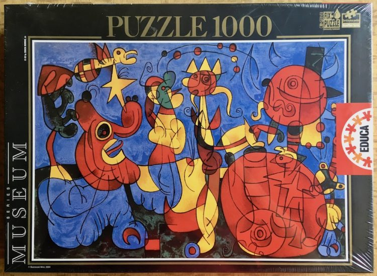 Image of the puzzle 1000, Educa, Ubu Roi, Joan Miró, Factory Sealed