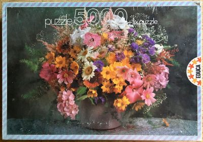 Image of the puzzle 5000, Educa, Summer Flowers, Complete, Picture of the box