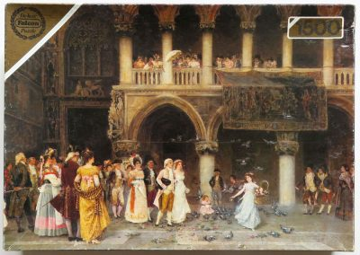 Image of the puzzle 1500, Falcon, A Venetian Wedding, Gabriel Puig Roda, Complete, Picture of the box