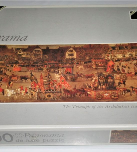 Image of the puzzle 1000 Falcon De Luxe The Triumph of the Archduchess Isabella, by Denis Van Asloot, Factory Sealed, Picture of the box