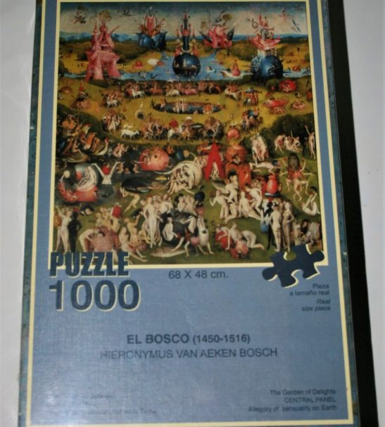 1000, Educa, The Garden of Earthly Delights, by Bosch, Factory Sealed