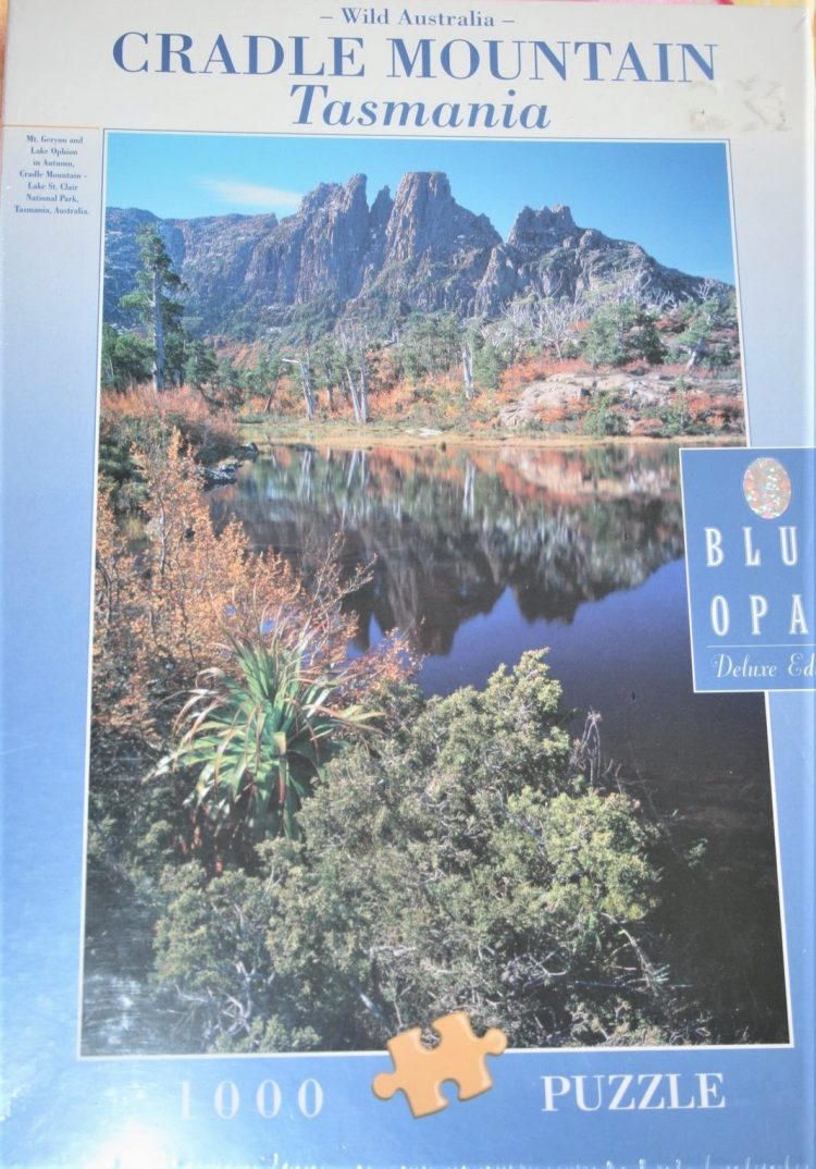 Image of the puzzle 1000, Blue Opal, Cradle Mountain, Tasmania, Factory Sealed, Picture of the box