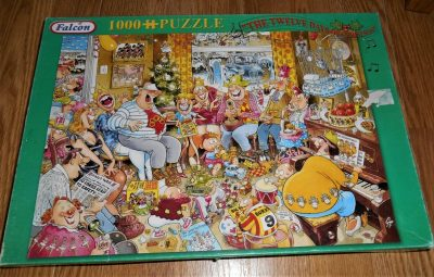Image of the puzzle 1000, Falcon, The Twelve Days of Christmas, by Graham Thompson, Complete, Picture of the box