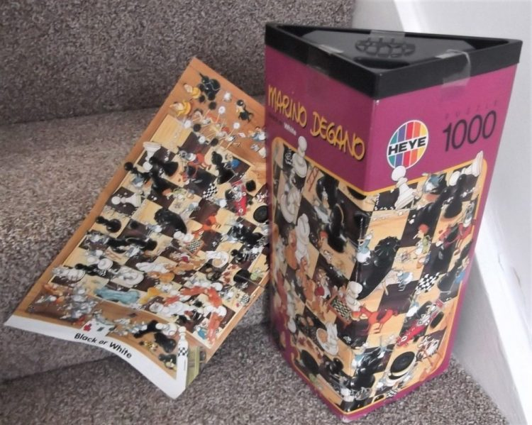 Image of the puzzle 1000, Heye, Black or White, by Marino Degano, Complete, Picture of the box