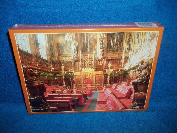 Image of the puzzle 1000, Express Gifts, The House of Lords, Factory Sealed