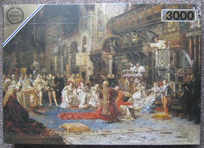 Image of the puzzle 3000, Falcon, The Sermon, by Salvador Sánchez Barbudo, Factory Sealed, Picture of the box