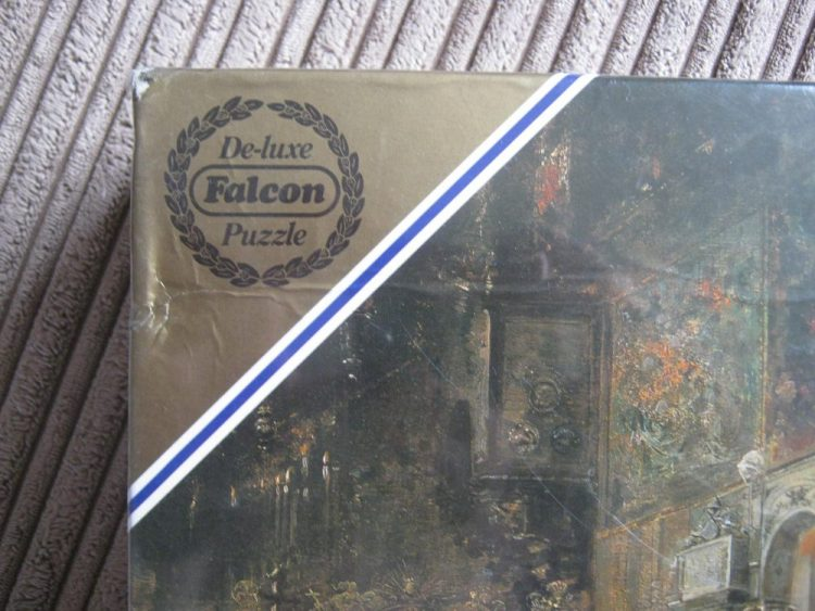 Image of the puzzle 3000, Falcon, The Sermon, by Salvador Sánchez Barbudo, Factory Sealed, Picture of the corner