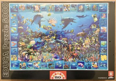Image of the puzzle 5000, Educa, Dolphin Kingdom, by Royce B. McCLure, Factory Sealed