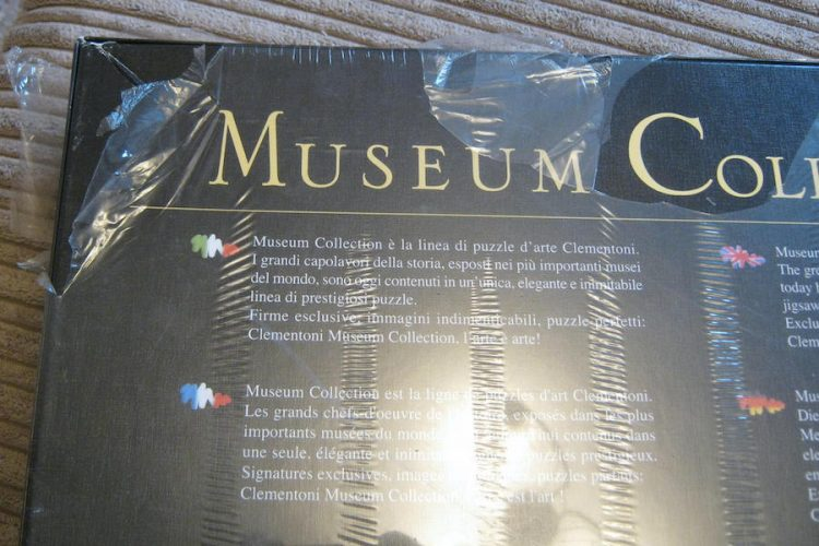 Image of the puzzle 1000, Clementoni, The Delivery of the Keys to Saint Peter, by Pietro Perugino, Factory Sealed, Detail of the box