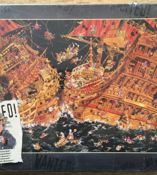 Image of the puzzle 1000, Heye, Wanted! Where is Diamond Dick?, Jean-Jacques Loup, Factory Sealed, Picture of the box