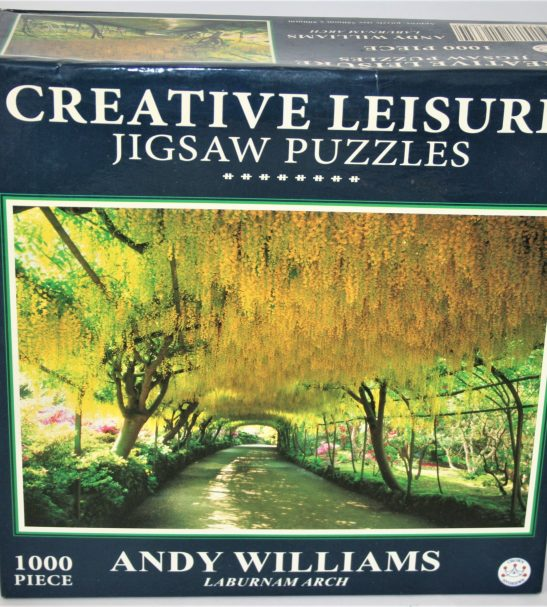 Image of the puzzle 1000, Crown & Andrews, Laburnum Arch, by Andy Williams, Factory Sealed, Picture of the box